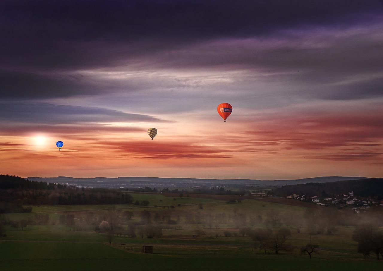 let balónem z Ostravy