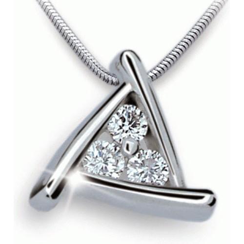 luxusní přívěsek z bíleho zlata a diamantů